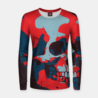 Thumbnail image of Skull Artwork Women sweater, Live Heroes