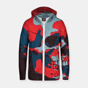 Thumbnail image of Skull Artwork Zip up hoodie, Live Heroes