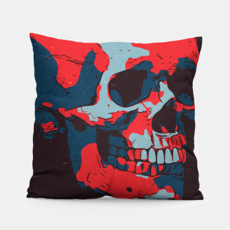 Thumbnail image of Skull Artwork Pillow, Live Heroes