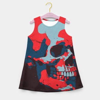 Thumbnail image of Skull Artwork Girl's summer dress, Live Heroes
