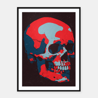 Thumbnail image of Skull Artwork Framed poster, Live Heroes