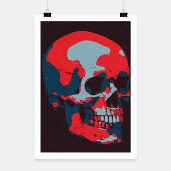Thumbnail image of Skull Artwork Poster, Live Heroes