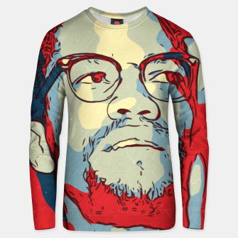Thumbnail image of Malcolm X Artwork Unisex sweater, Live Heroes