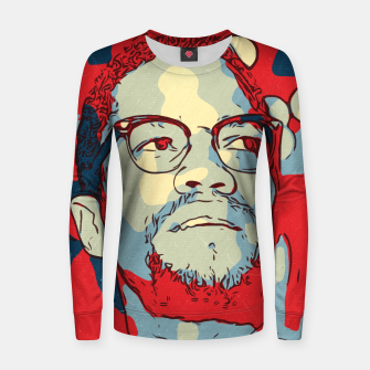 Thumbnail image of Malcolm X Artwork Women sweater, Live Heroes