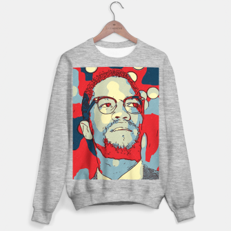 Thumbnail image of Malcolm X Artwork Sweater regular, Live Heroes