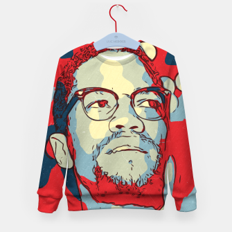 Thumbnail image of Malcolm X Artwork Kid's sweater, Live Heroes