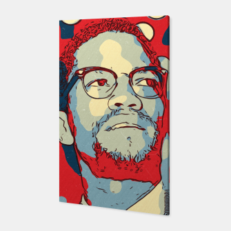 Thumbnail image of Malcolm X Artwork Canvas, Live Heroes