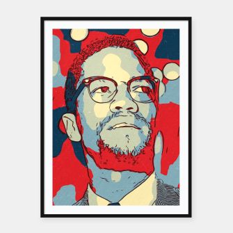 Thumbnail image of Malcolm X Artwork Framed poster, Live Heroes