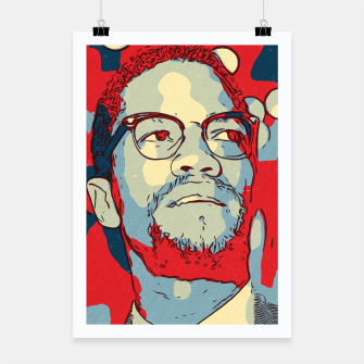 Thumbnail image of Malcolm X Artwork Poster, Live Heroes