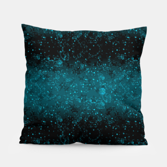 blue sequins, sequins, glitter Pillow thumbnail image