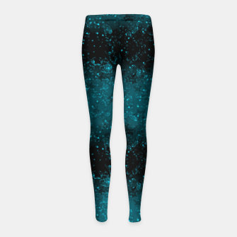 blue sequins, sequins, glitter Girl's leggings thumbnail image