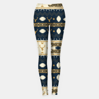 Thumbnail image of Tribal Bohemian Winter Leggings, Live Heroes