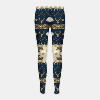 Miniatur Tribal Bohemian Winter Leggings para niña, Live Heroes