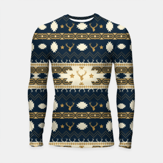 Tribal Bohemian Winter Longsleeve rashguard miniature