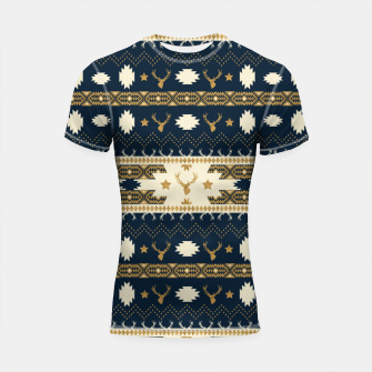 Tribal Bohemian Winter Shortsleeve rashguard miniature