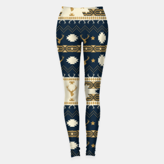 Tribal Bohemian Winter Leggings miniature