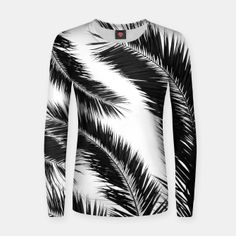 Miniatur Bohemian Palms Jungle Pattern #1 #tropical #decor #art Frauen sweatshirt, Live Heroes