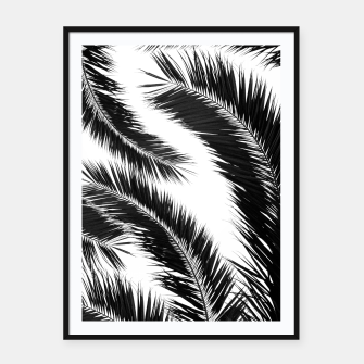 Miniatur Bohemian Palms Jungle Pattern #1 #tropical #decor #art Plakat mit rahmen, Live Heroes