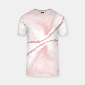 Thumbnail image of Blush Agate Pastel Glam #1 #gem #decor #art T-Shirt, Live Heroes