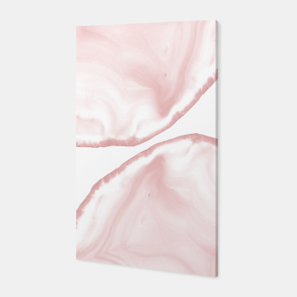 Imagen en miniatura de Blush Agate Pastel Glam #1 #gem #decor #art Canvas, Live Heroes