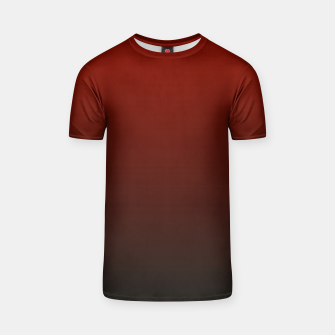 Thumbnail image of Dark Red Black Gradient T-shirt, Live Heroes