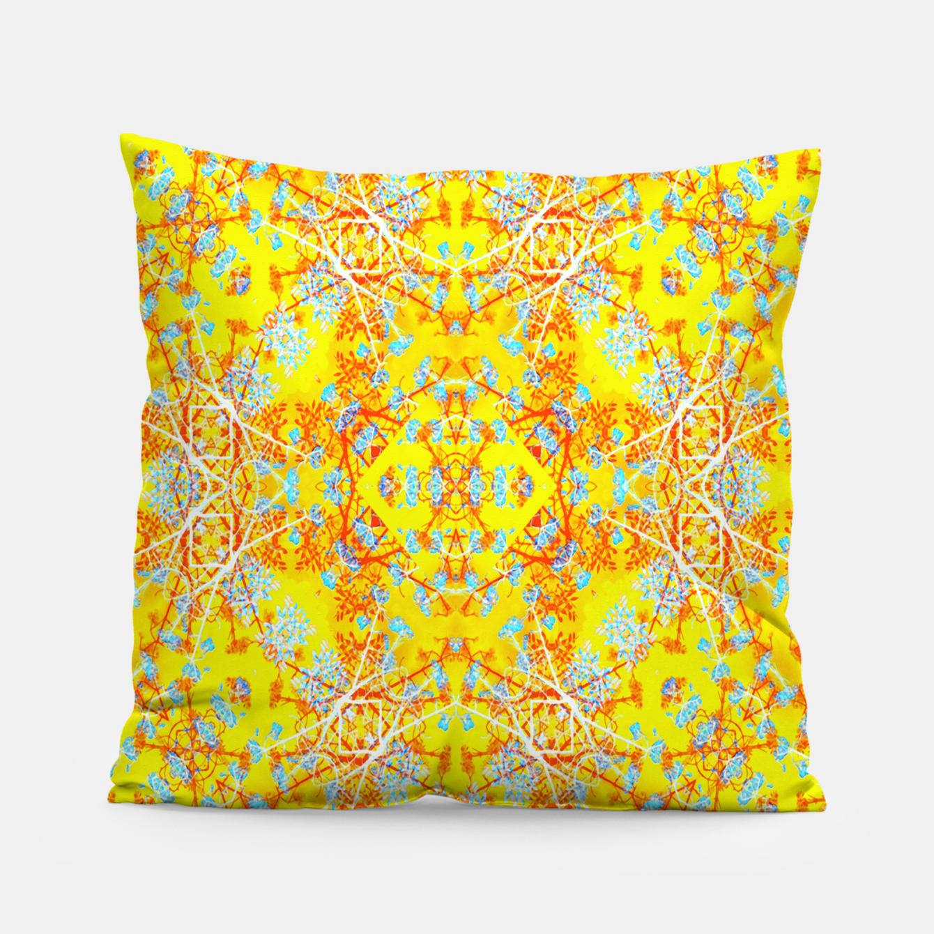 Foto Vivid Warm Ornate Pattern Pillow - Live Heroes