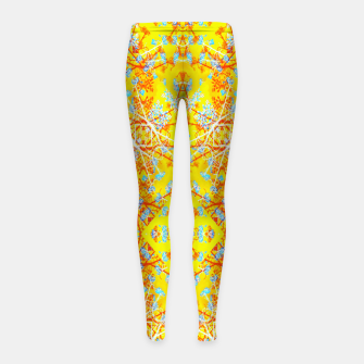 Miniaturka Vivid Warm Ornate Pattern Girl's leggings, Live Heroes