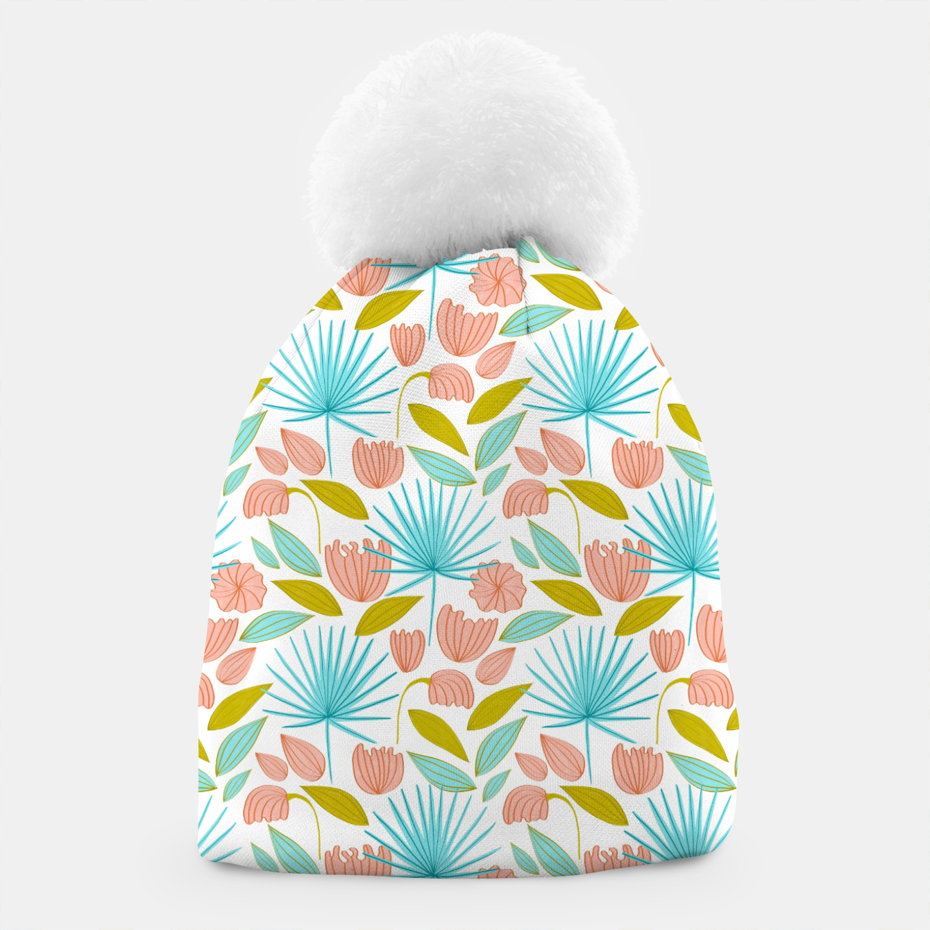 Image of Divine Floral Beanie - Live Heroes