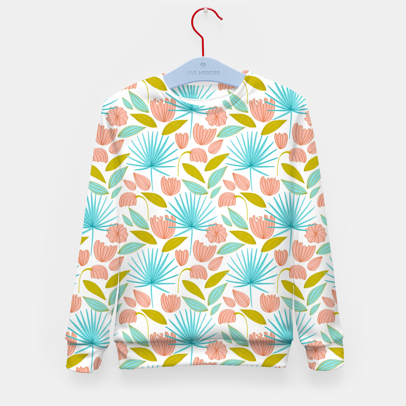 Image of Divine Floral Kid's sweater - Live Heroes