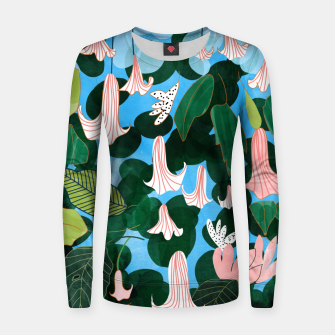Thumbnail image of Mood Flowers Women sweater, Live Heroes