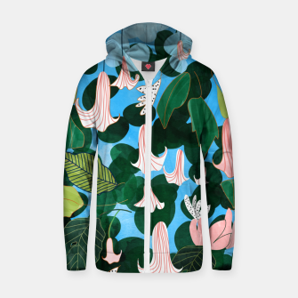 Thumbnail image of Mood Flowers Zip up hoodie, Live Heroes