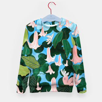 Thumbnail image of Mood Flowers Kid's sweater, Live Heroes