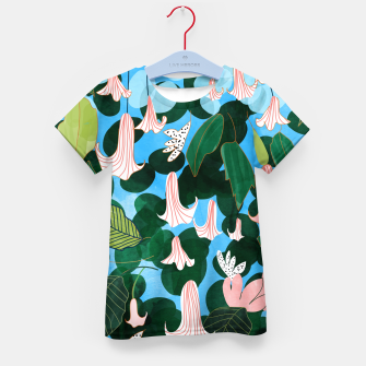 Thumbnail image of Mood Flowers Kid's t-shirt, Live Heroes