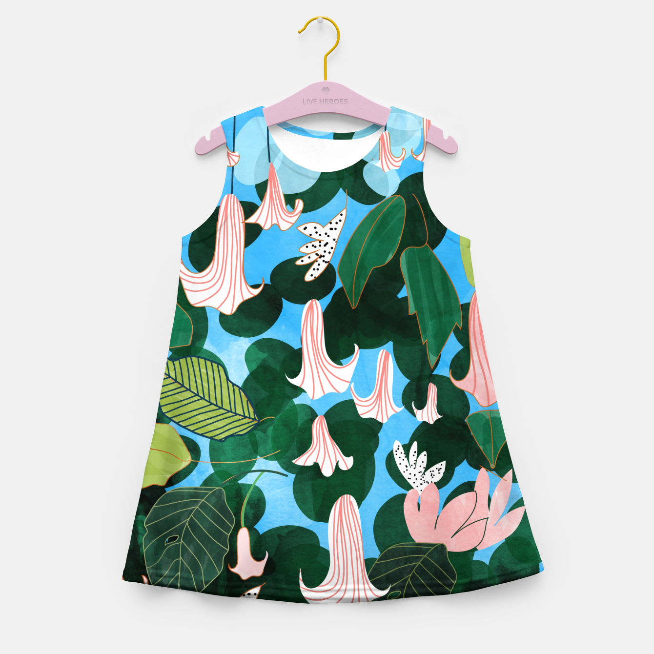 Image of Mood Flowers Girl's summer dress - Live Heroes