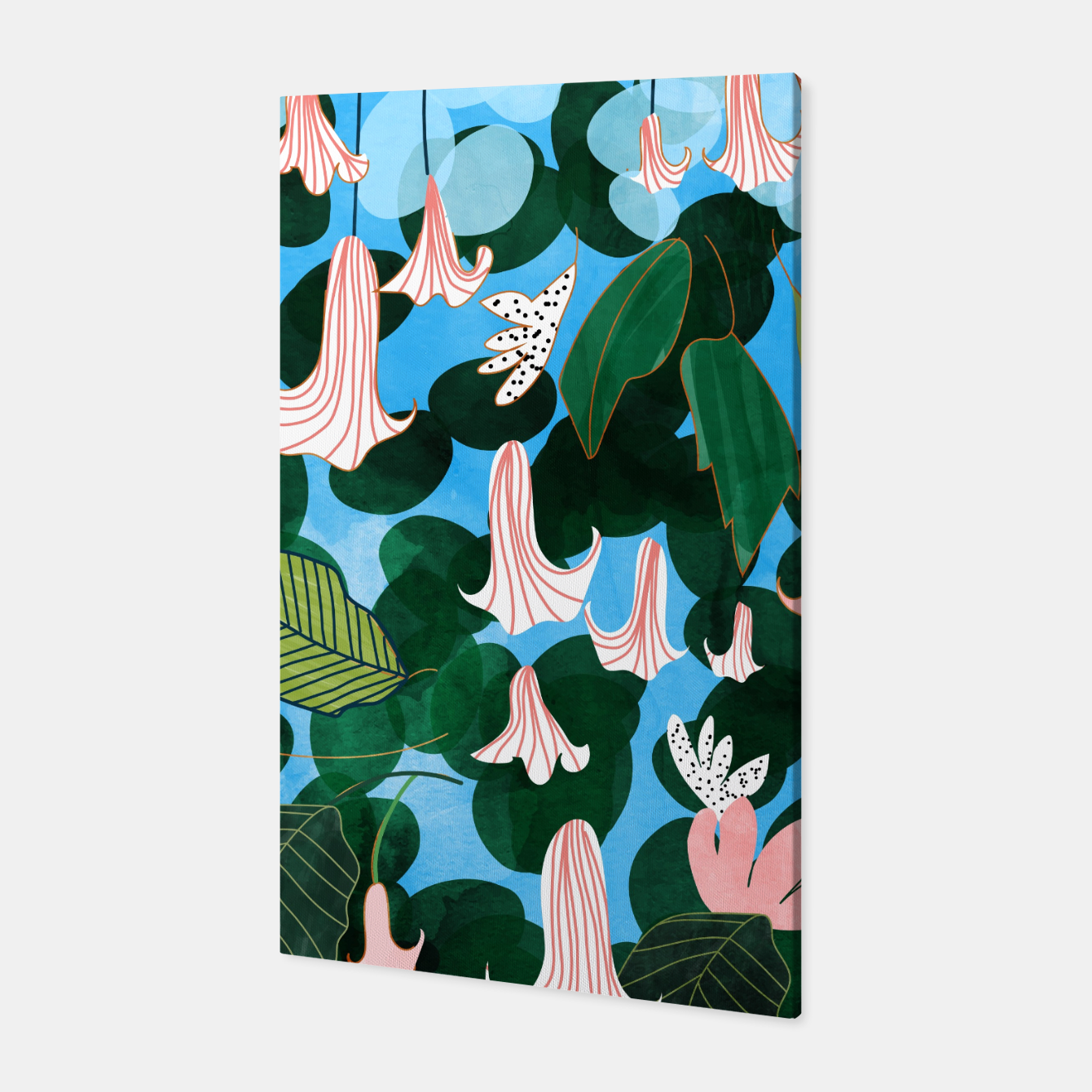 Image of Mood Flowers Canvas - Live Heroes
