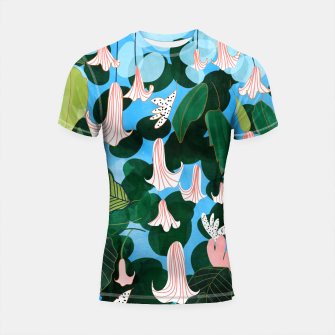 Thumbnail image of Mood Flowers Shortsleeve rashguard, Live Heroes