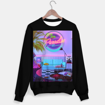 Miniatur Paradise Synthwave Sweater regular, Live Heroes