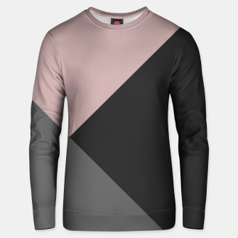 Thumbnail image of Dusty Blush meets Charcoal & Gray Geometric #1 #minimal #decor #art Unisex sweatshirt, Live Heroes
