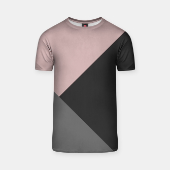 Thumbnail image of Dusty Blush meets Charcoal & Gray Geometric #1 #minimal #decor #art T-Shirt, Live Heroes