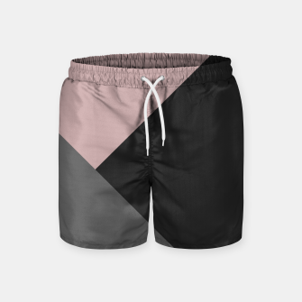 Miniaturka Dusty Blush meets Charcoal & Gray Geometric #1 #minimal #decor #art Badeshorts, Live Heroes