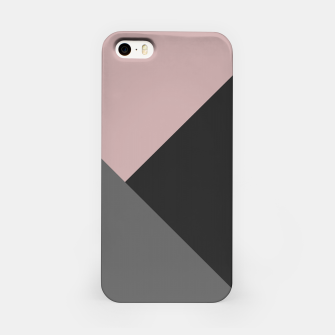 Miniaturka Dusty Blush meets Charcoal & Gray Geometric #1 #minimal #decor #art iPhone-Hülle, Live Heroes