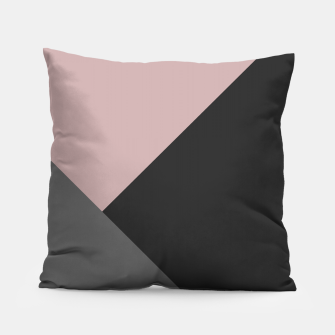 Miniaturka Dusty Blush meets Charcoal & Gray Geometric #1 #minimal #decor #art Kissen, Live Heroes