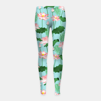 Thumbnail image of Lotus Love II Girl's leggings, Live Heroes