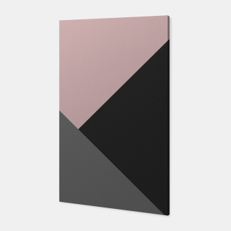 Imagen en miniatura de Dusty Blush meets Charcoal & Gray Geometric #1 #minimal #decor #art Canvas, Live Heroes