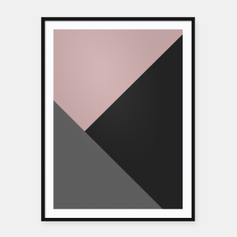 Miniaturka Dusty Blush meets Charcoal & Gray Geometric #1 #minimal #decor #art Plakat mit rahmen, Live Heroes