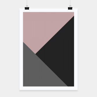 Miniatur Dusty Blush meets Charcoal & Gray Geometric #1 #minimal #decor #art Plakat, Live Heroes