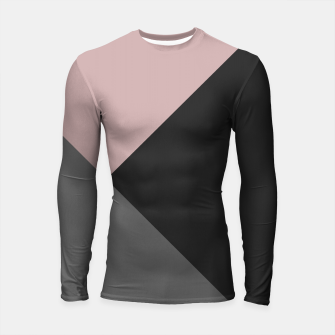 Miniaturka Dusty Blush meets Charcoal & Gray Geometric #1 #minimal #decor #art Longsleeve rashguard, Live Heroes