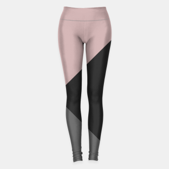 Miniaturka Dusty Blush meets Charcoal & Gray Geometric #1 #minimal #decor #art Leggings, Live Heroes