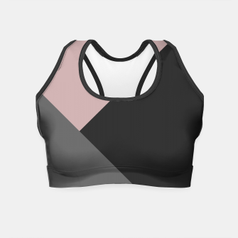 Miniaturka Dusty Blush meets Charcoal & Gray Geometric #1 #minimal #decor #art Crop Top, Live Heroes