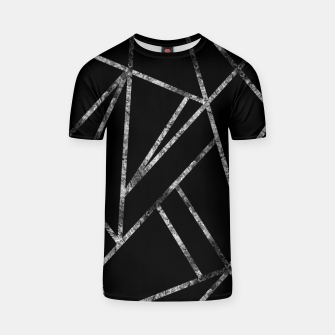 Thumbnail image of Classic Black Silver Geo #1 #geometric #decor #art  T-Shirt, Live Heroes